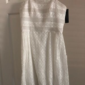 Laundry white strapless dress